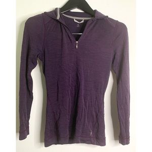 Smartwool Purple 3/4 Zip Merino Wool Top